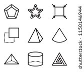 set of 9 simple editable icons... | Shutterstock .eps vector #1150146944
