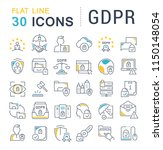 set of vector line icons of... | Shutterstock .eps vector #1150148054