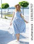 a wonderful  beautiful girl on... | Shutterstock . vector #1150150757