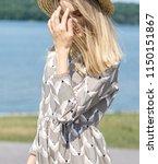 a wonderful  beautiful girl on... | Shutterstock . vector #1150151867
