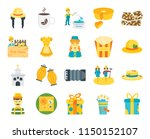 set of 20 icons such as gift ...