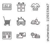 set of 9 simple editable icons... | Shutterstock .eps vector #1150153667