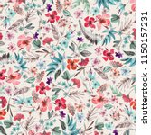 floral pattern design | Shutterstock . vector #1150157231