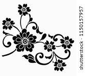 flower motif sketch for design | Shutterstock .eps vector #1150157957