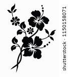 flower motif sketch for design | Shutterstock .eps vector #1150158071