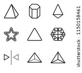 set of 9 simple editable icons... | Shutterstock .eps vector #1150158461