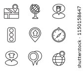 set of 9 simple editable icons...   Shutterstock .eps vector #1150158647