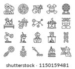 set of 20 icons such as dna ...