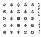 icon set   snowflake filled... | Shutterstock .eps vector #1150160267
