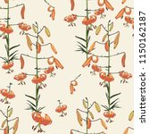 seamless floral pattern of... | Shutterstock .eps vector #1150162187