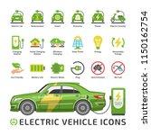 electric eco car vector green... | Shutterstock .eps vector #1150162754