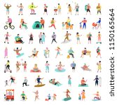 flat people characters... | Shutterstock .eps vector #1150165664