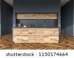front view of a wooden floor...   Shutterstock . vector #1150174664