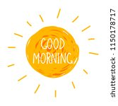 vector doodle good morning... | Shutterstock .eps vector #1150178717