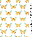 hyalophora cecropia  cecropia... | Shutterstock .eps vector #1150183757