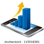 business graph on the screen... | Shutterstock .eps vector #115018381