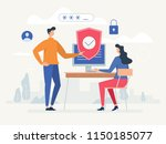 privacy policy. protecting your ... | Shutterstock .eps vector #1150185077