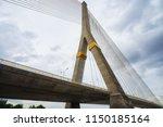 scenic of cable bridge landmark ...   Shutterstock . vector #1150185164