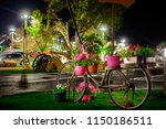 Decorated Bicycle Flower Pots...