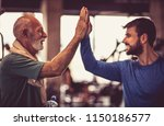 personal trainer with senior... | Shutterstock . vector #1150186577