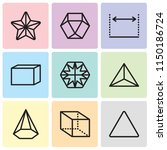set of 9 simple editable icons... | Shutterstock .eps vector #1150186724