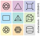 set of 9 simple editable icons... | Shutterstock .eps vector #1150186841