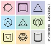 set of 9 simple editable icons... | Shutterstock .eps vector #1150186877