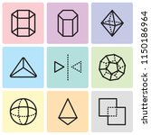 set of 9 simple editable icons... | Shutterstock .eps vector #1150186964