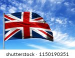 national flag of united kingdom ... | Shutterstock . vector #1150190351