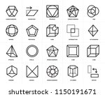 set of 20 icons such as rotate  ... | Shutterstock .eps vector #1150191671