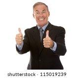 senior business man showing... | Shutterstock . vector #115019239