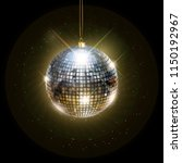 disco ball with bright rays ... | Shutterstock . vector #1150192967