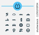 automobile icons set with auto... | Shutterstock . vector #1150193954