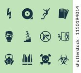 safety icons set with bio... | Shutterstock .eps vector #1150194014