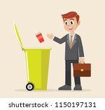 cartoon character  businessman... | Shutterstock .eps vector #1150197131