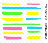 colorful highlighters set.... | Shutterstock .eps vector #1150202567