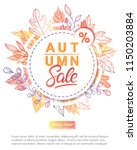 autumn special offer banner... | Shutterstock .eps vector #1150203884
