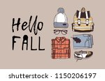 hand drawn autumn illustration...   Shutterstock .eps vector #1150206197