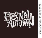 eternal autumn. vector autumn...   Shutterstock .eps vector #1150209674