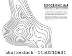 topographic map contour... | Shutterstock .eps vector #1150210631
