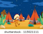illustration of a tent house... | Shutterstock .eps vector #115021111