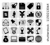 set of 25 business icons  high... | Shutterstock .eps vector #1150213064