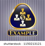gold emblem or badge with... | Shutterstock .eps vector #1150213121