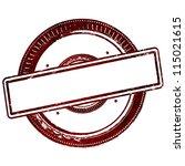 abstract empty grunge rubber...   Shutterstock . vector #115021615