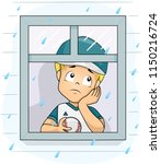 illustration of a kid boy... | Shutterstock .eps vector #1150216724