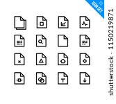 file types vector icon set....
