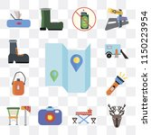set of 13 simple editable icons ... | Shutterstock .eps vector #1150223954