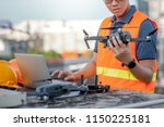 young asian man working with... | Shutterstock . vector #1150225181