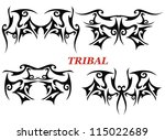 isolated tribal tattoo | Shutterstock .eps vector #115022689