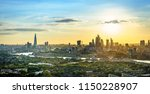 london skyline at cloudy day... | Shutterstock . vector #1150228907